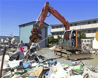 静岡突風被害 住民ら自宅修理や片付け 停電は解消