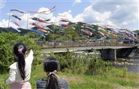 こいのぼり140匹悠々 鳥取・江府町
