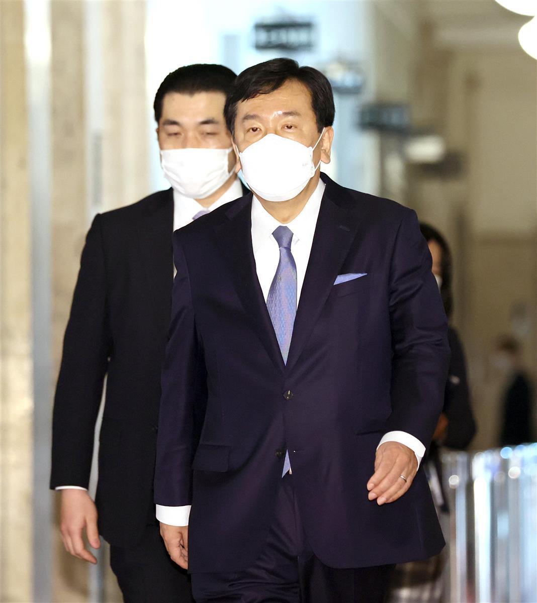 立憲民主党・枝野幸男代表=4月28日午後、国会内(春名中撮影)