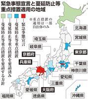 医療体制逼迫で対策強化 変異株拡大で徳島、北海道、福岡