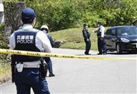 畑に転落の乗用車から男性遺体 神戸・北区、死体遺棄事件を視野