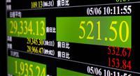 東京株、一時500円超高 米景気回復期待で買い先行