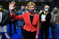 独立派、過半数獲得が焦点 英スコットランド開票続く