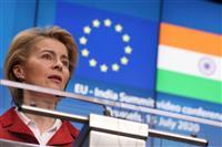 印とEU27カ国が首脳会議、中国にらみ貿易交渉再開へ