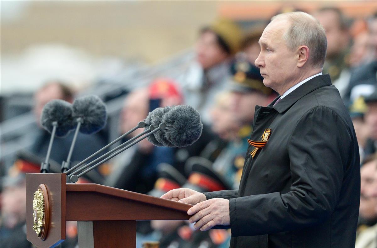 「再度の大戦企図は許さず」 プーチン氏、米欧を牽制
