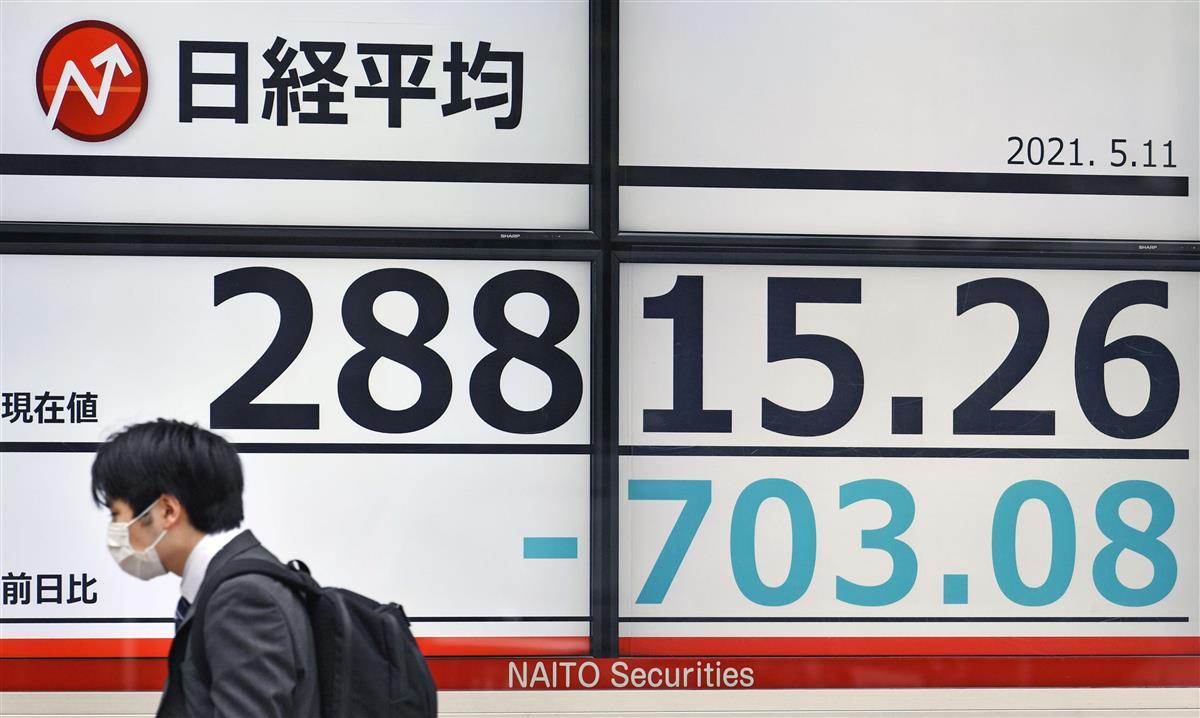 東証、900円超下落 今年2番目の下げ幅