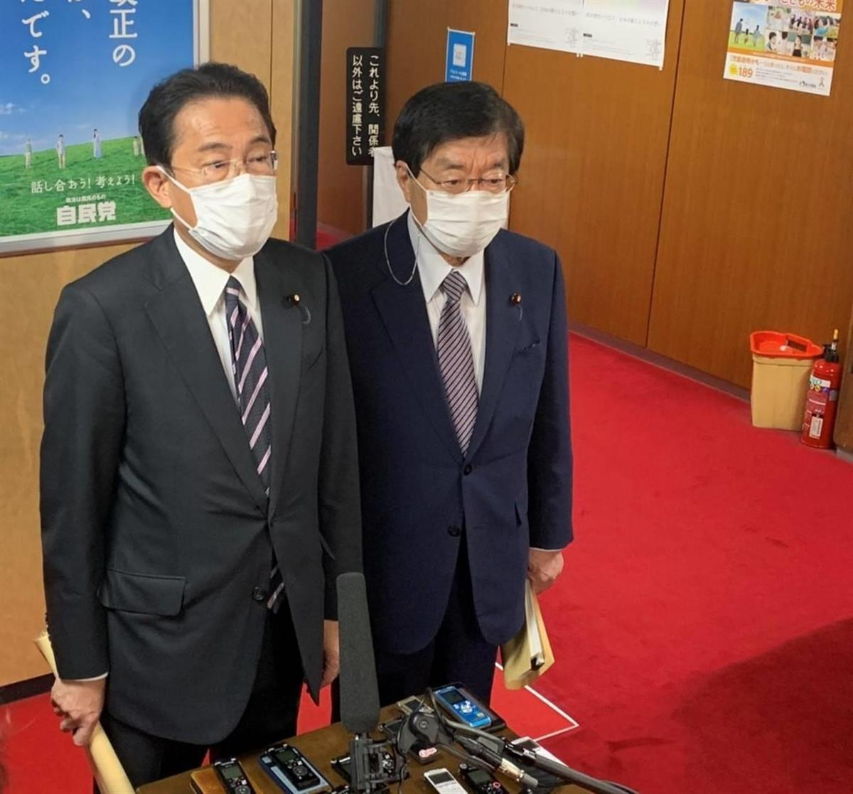 自民・岸田氏、「政治とカネ」問題からの信頼回復を二階氏に要請