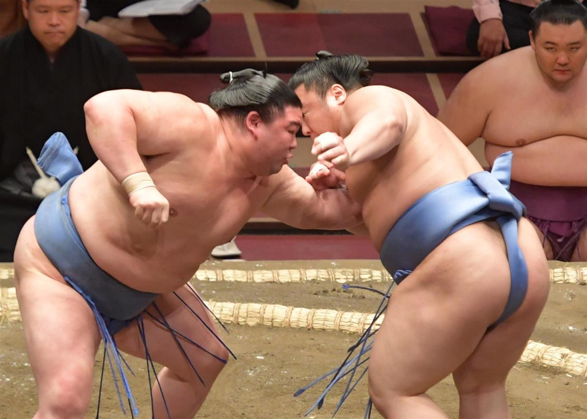 大相撲の正代、会心の3勝目 かど番脱出へ出足で決着 大相撲夏…
