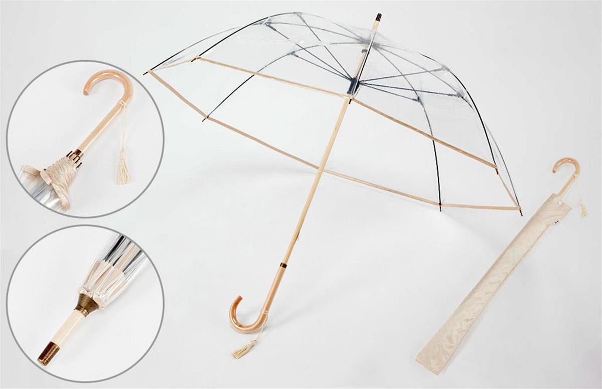 壊れにくくて透明感抜群の高級ビニール傘