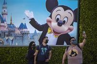 米ディズニー減収増益 コロナで入場制限、動画サービス伸びは鈍化
