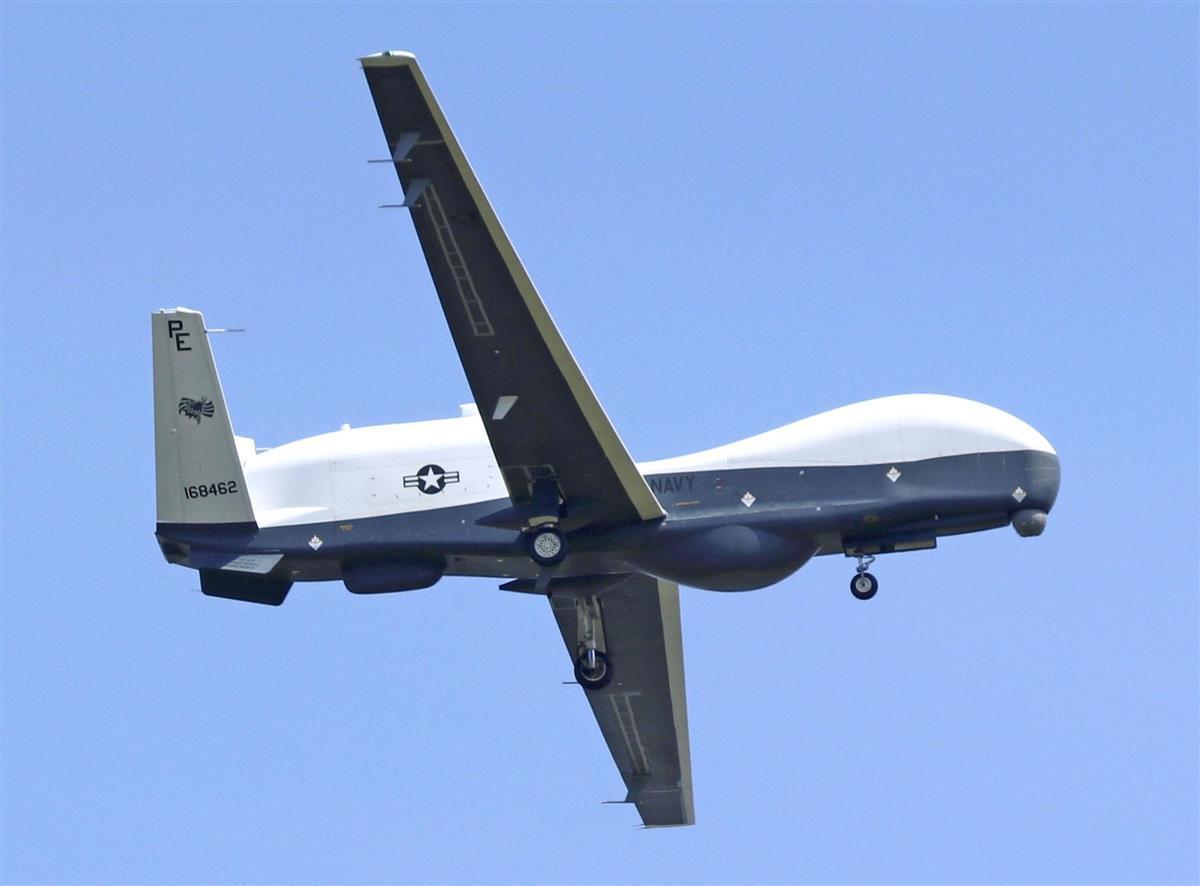 米海軍無人機、三沢基地に 5カ月間配備、国内初展開