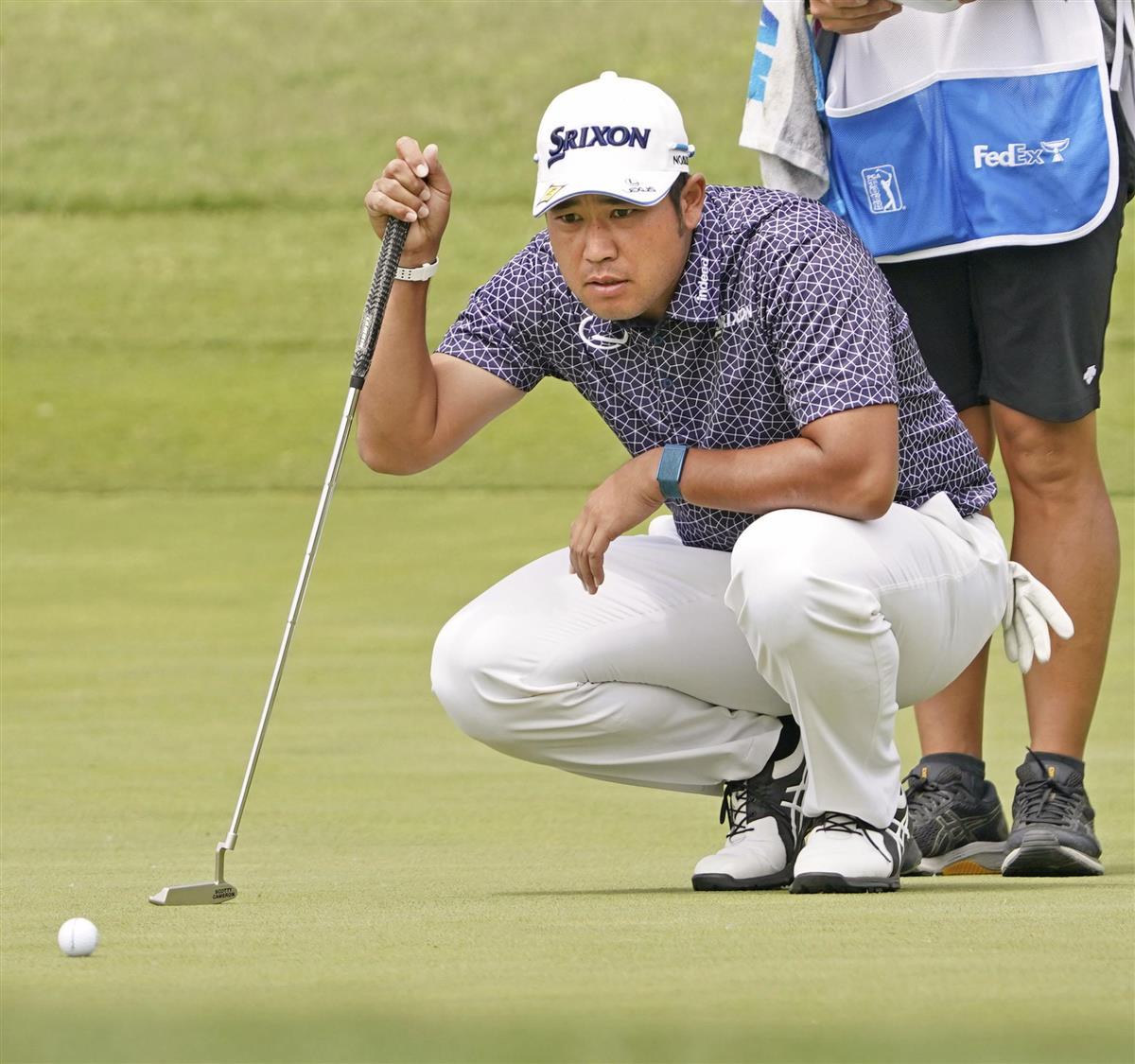 松山、小平とも53位で決勝Rへ 米男子ゴルフ第2日