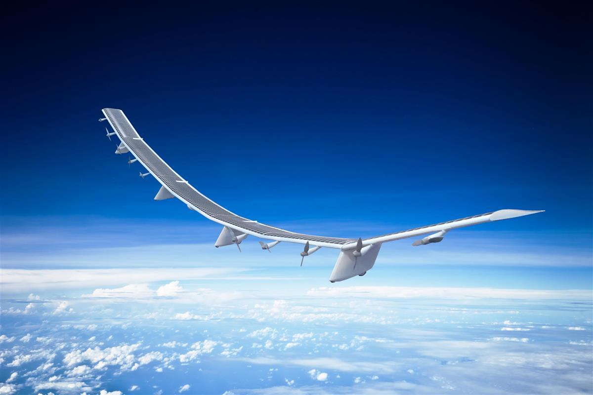 成層圏を飛行する無人飛行機のイメージ(HAPSモバイル提供)