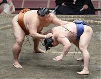 御嶽海が注文相撲で2敗守る 及び腰か執念か 大相撲夏場所