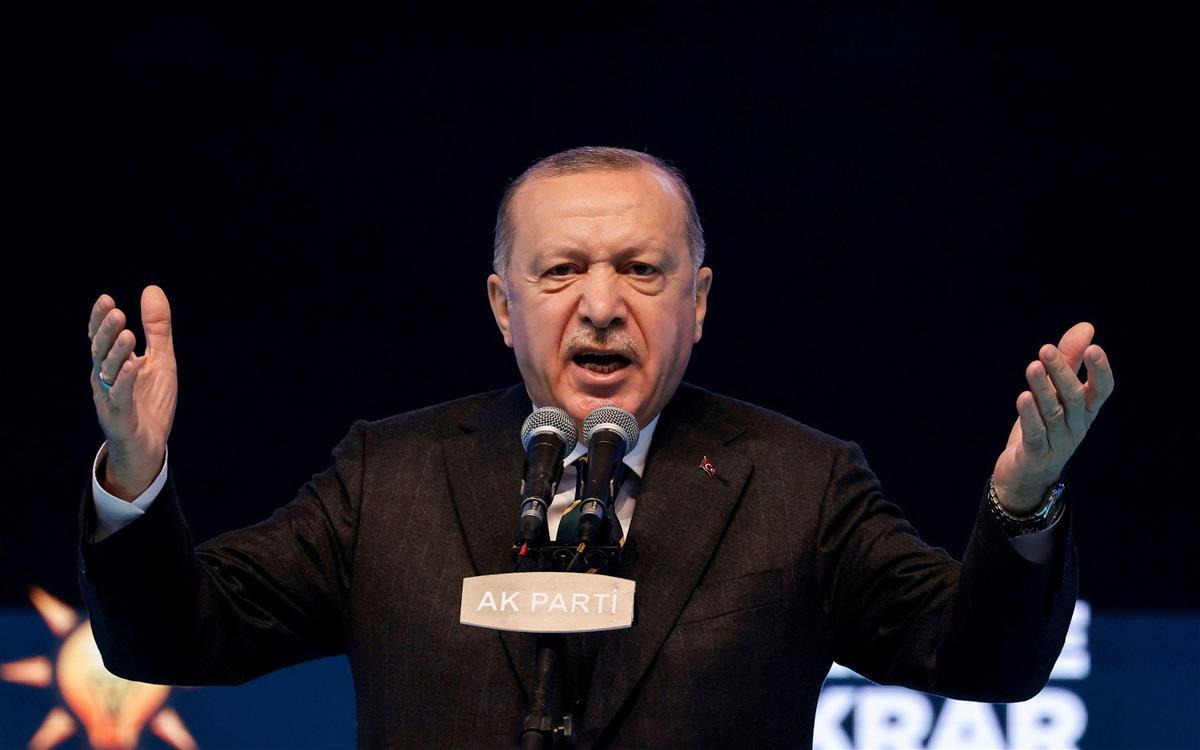 トルコのエルドアン大統領=アンカラ(ロイター=共同)