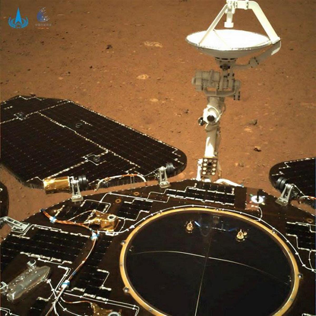中国、火星の表面撮影