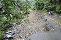 九州、避難指示全て解除 災害警戒継続、国道崩落も
