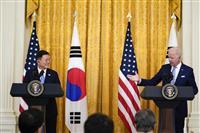 米韓首脳が初会談 北非核化へ「現実的措置」で一致