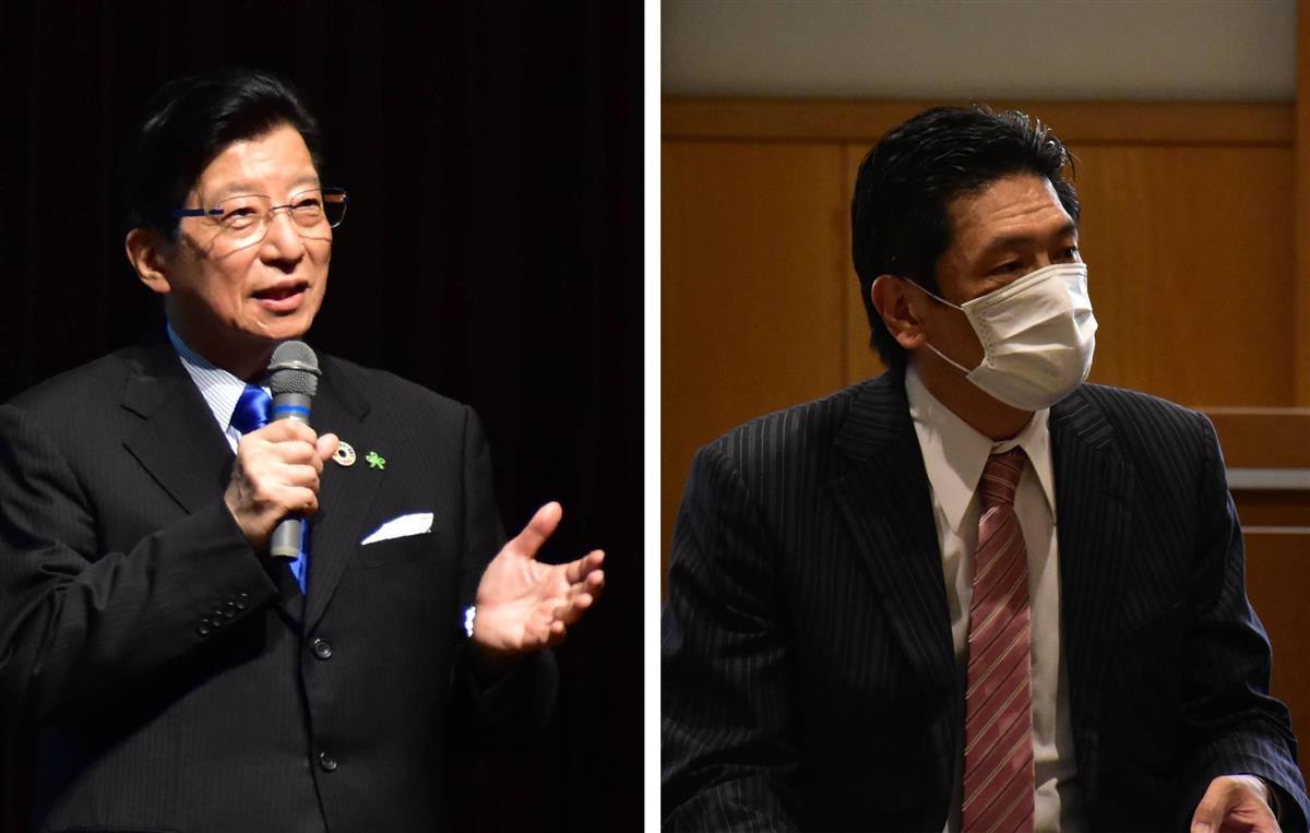 【静岡知事選】リニアで川勝氏「言うべきこと言う」 岩井氏「治…