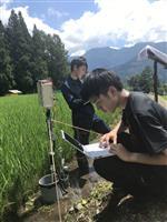 【学ナビ】ICT活用で地域課題解決に貢献 東京電機大学大学院生ら 水田の水位を遠隔監視…