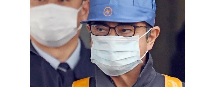東京拘置所を出るカルロス・ゴーン被告
