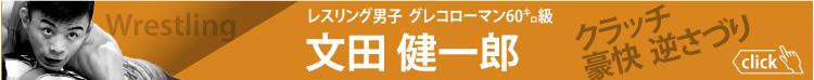 レスリング男子グレコローマン60キロ級 文田健一郎