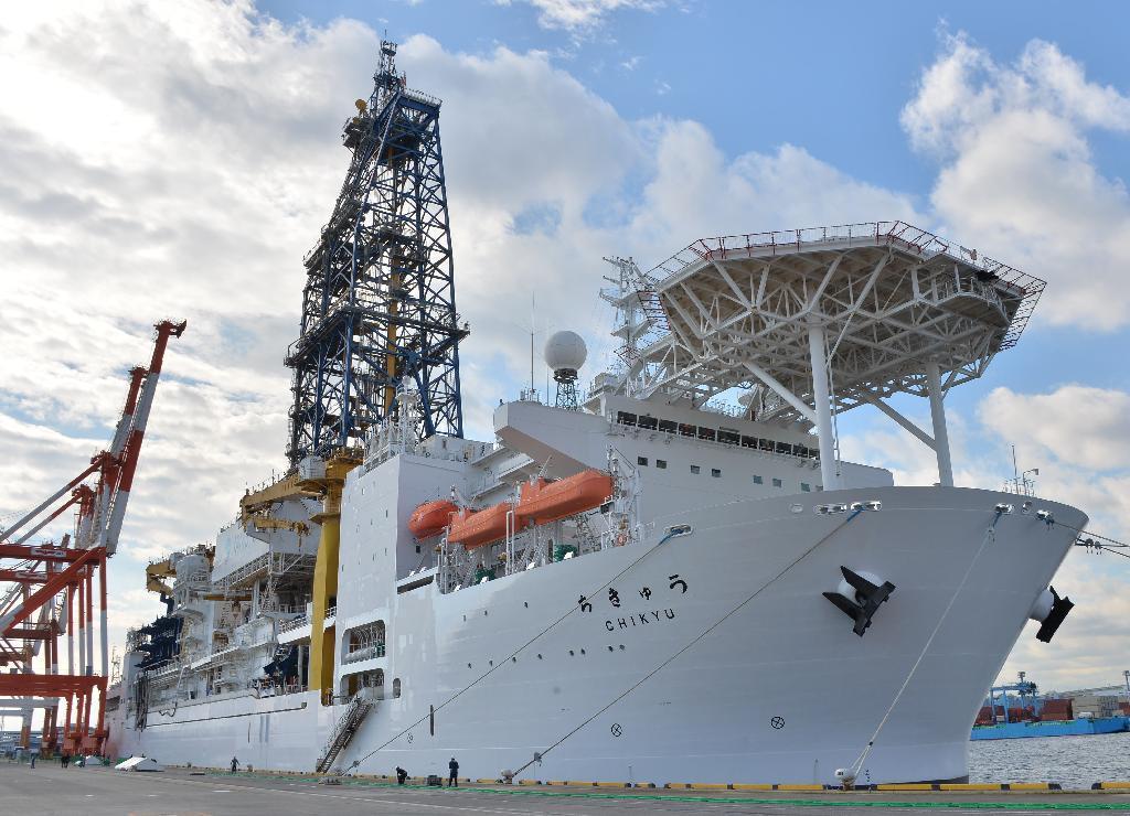 産経フォト地球深部探査船「ちきゅう」 就航10年