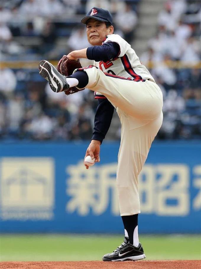 村田兆治氏が131キロ! 66歳、マ...