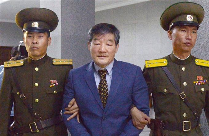 拘束の米国人に懲役10年 北朝鮮...