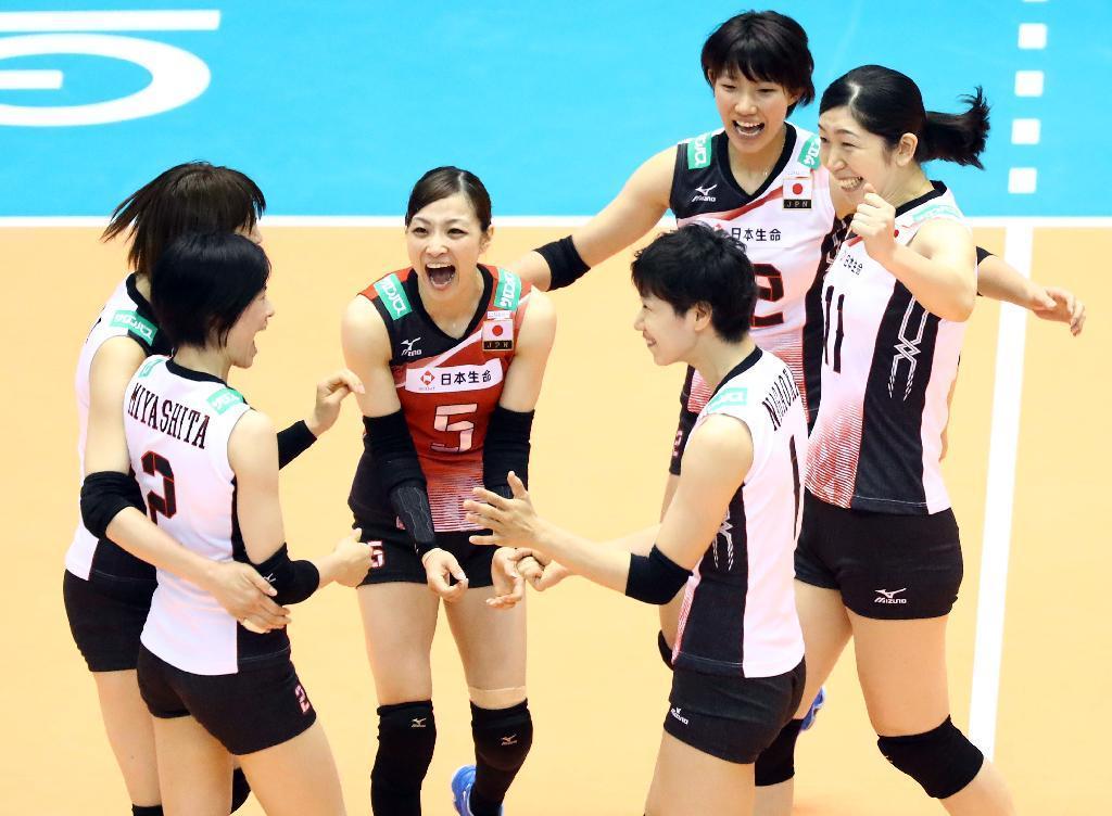 産経フォト日本、ドミニカを下し4勝目 バレー女子五輪最終予選