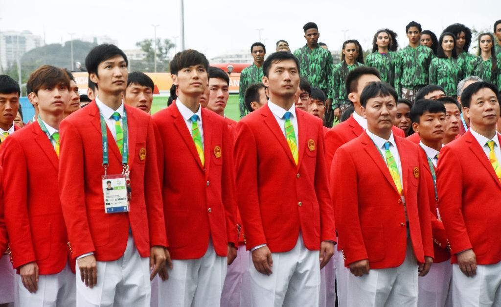中国選手団が入村式 過去最大416...