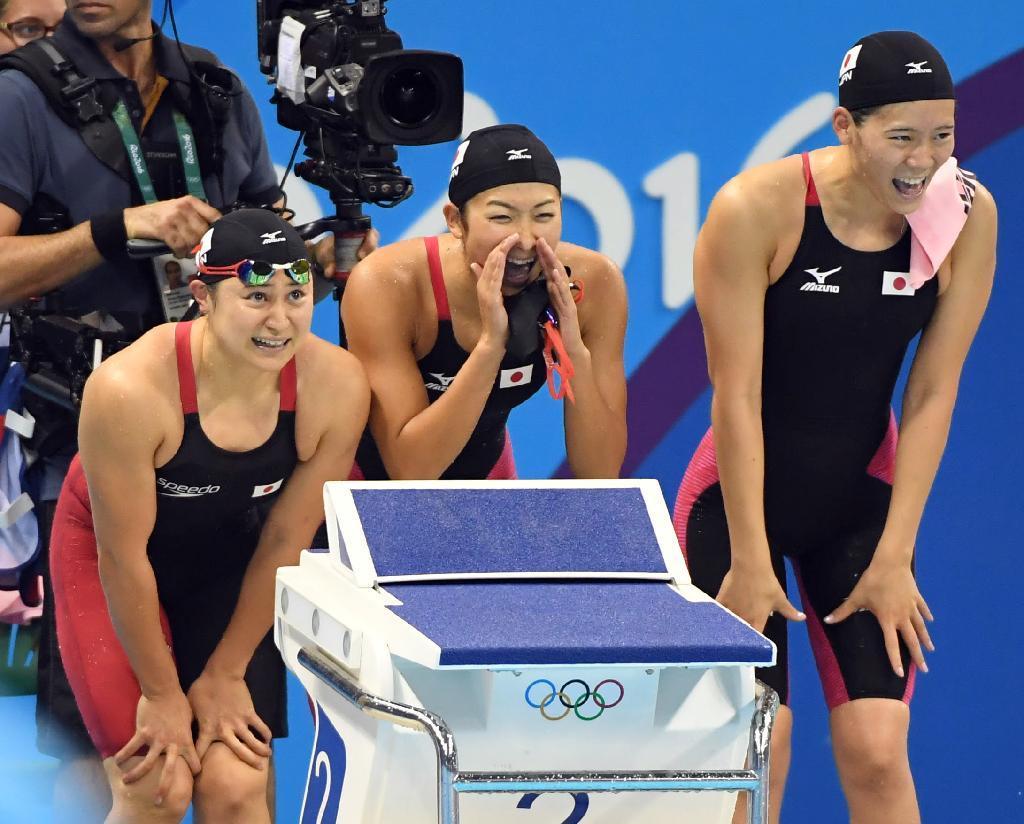 産経フォト【五輪競泳】女子400リレー、日本が7位で決勝進出