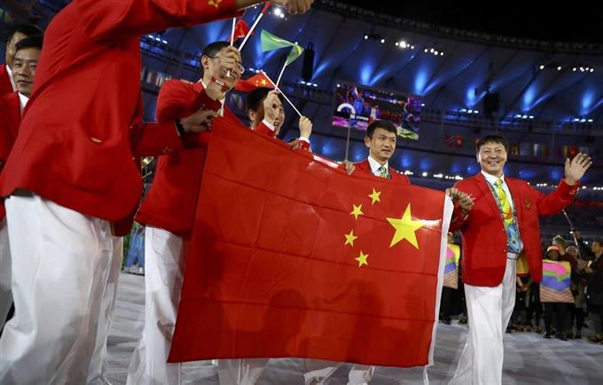 国旗が違う! 中国がリオ五輪組...