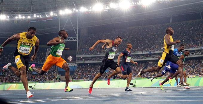 男子100m ボルトが前人未踏の3連...