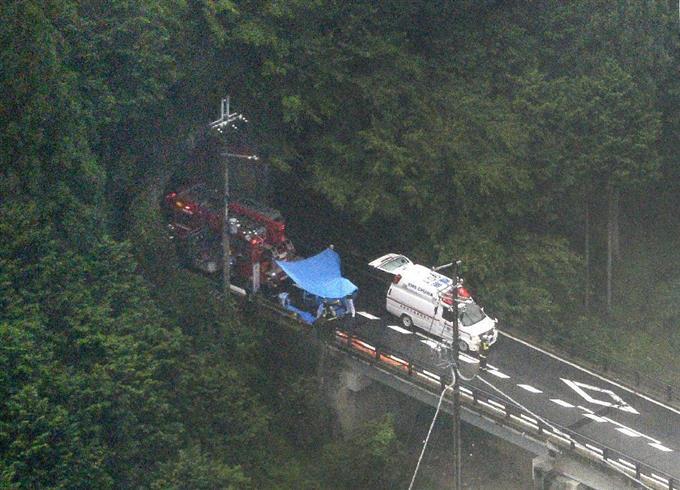 奈良県川上村のトンネル内で事故...