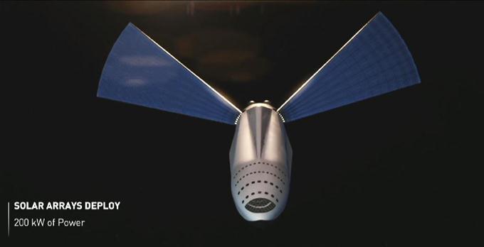 スペースXが発表した有人火星宇宙船のイメージ(ユーチューブから)