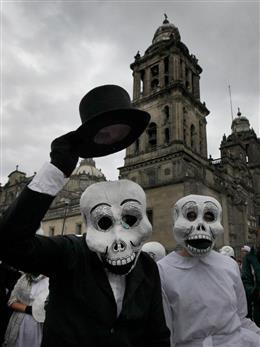 メキシコのお盆 day of the dead 死者の日 読んで見フォト 産経
