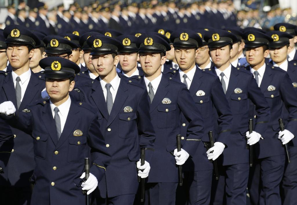 産経フォト警視庁が年頭の出動訓練 機動隊員ら2300人行進