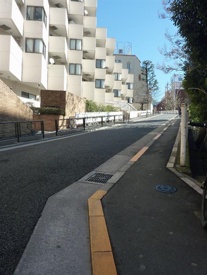 「桜蔭坂」と呼ばれる忠弥坂=東京都文京区