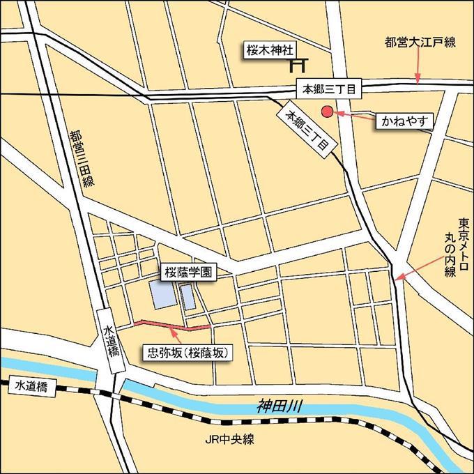 本郷界隈の略図 ©産経フォト・柴野犬子