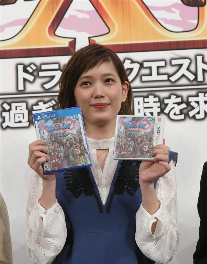 「ドラゴンクエスト11」発売日発表会に出席した女優の本田翼=