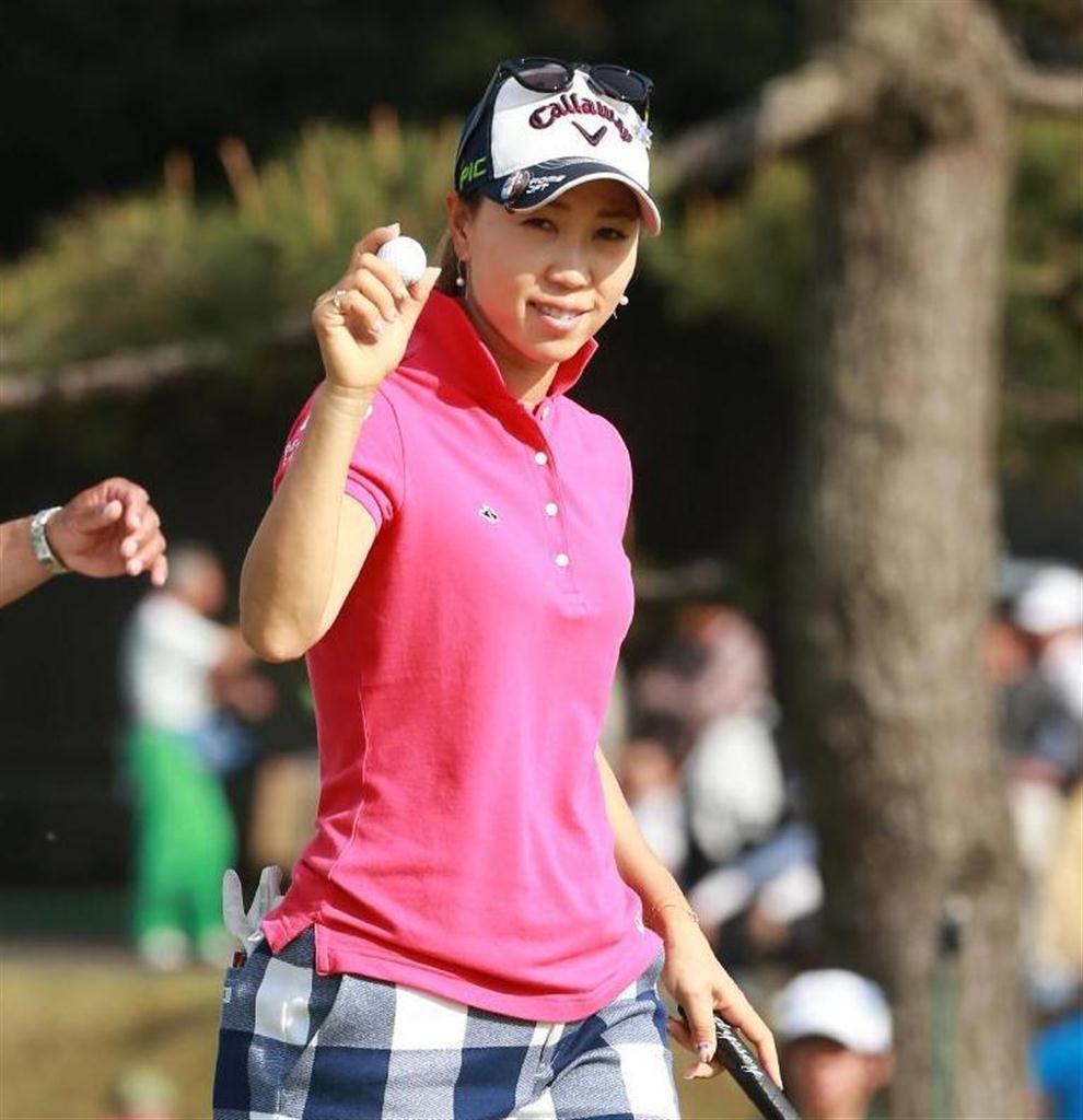 産経フォト上田桃子が首位キープ 女子ゴルフ第2日