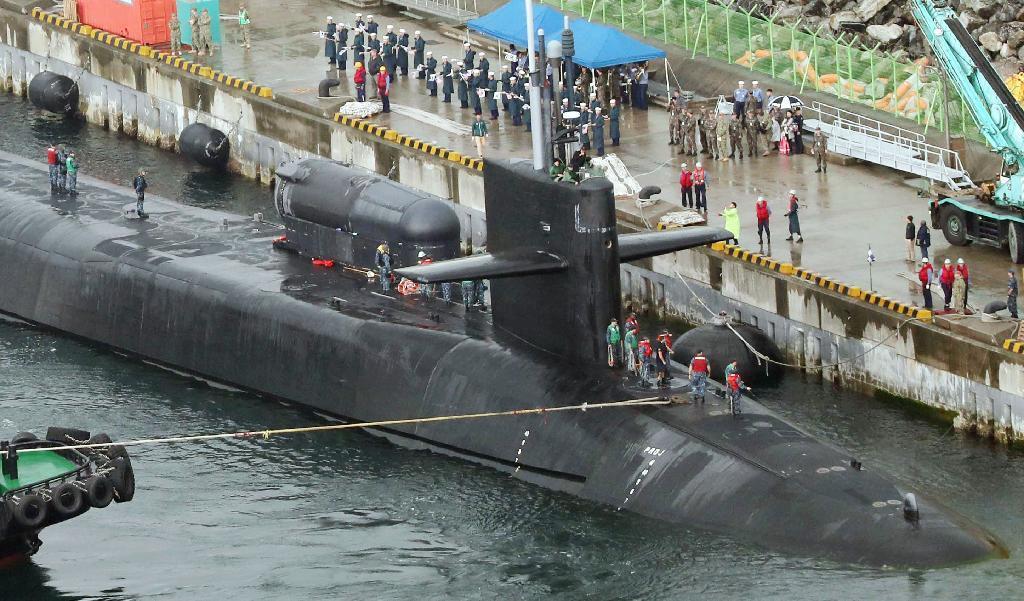産経フォト米韓、週末に共同訓練 空母動員 巡航ミサイル原潜は釜山入港