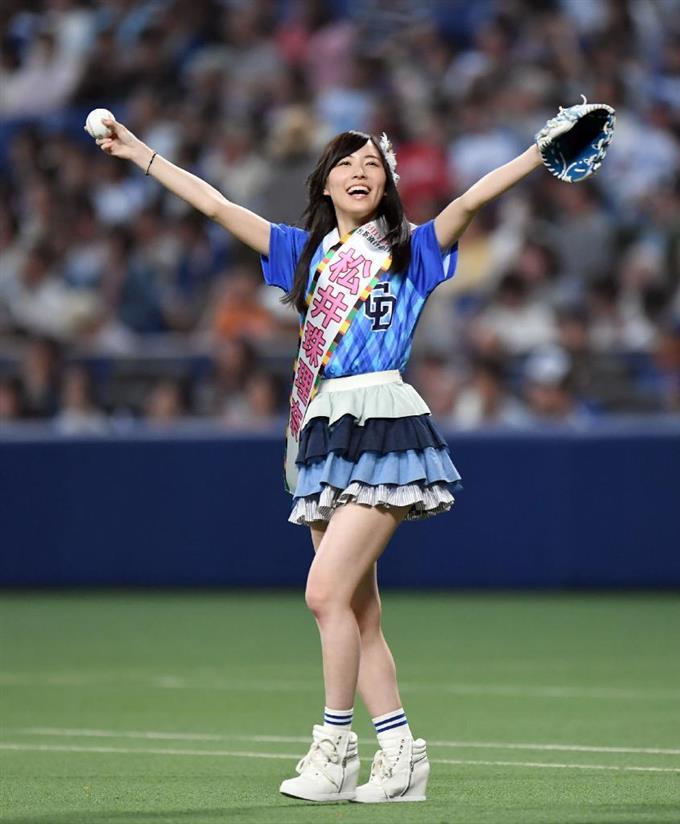 始球式の松井珠理奈