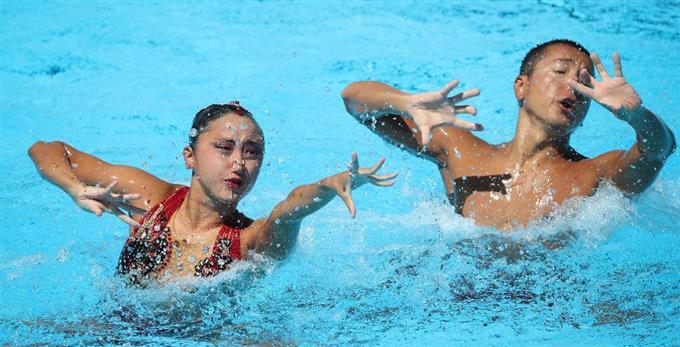 産経フォト安部・足立組は4位 世界水泳混合デュエットサイトナビゲーション安部・足立組は4位 世界水泳混合デュエットPR