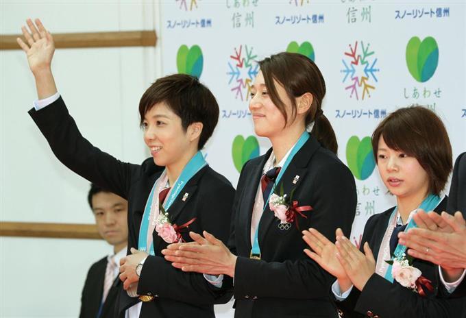 小平選手らに栄誉賞贈呈 長野県...