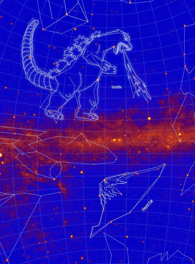 ゴジラ」「富士山」が星座に! NASAが認定 - 読んで見フォト - 産経フォト