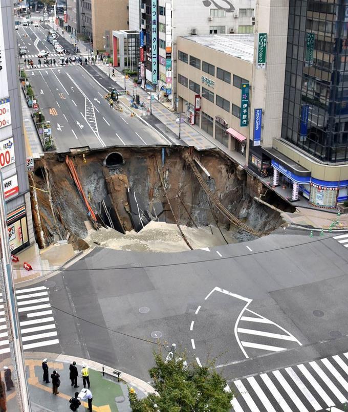 「博多駅前道路陥没事故 原因」の画像検索結果