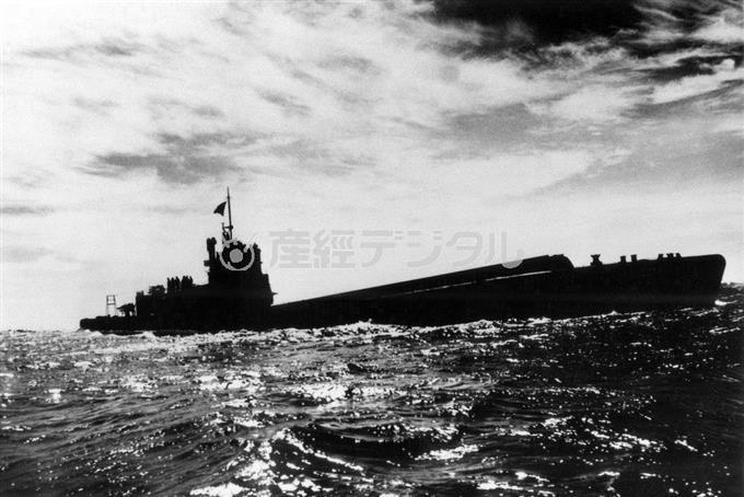 終戦直後、相模湾沖合を航行中の「伊400」