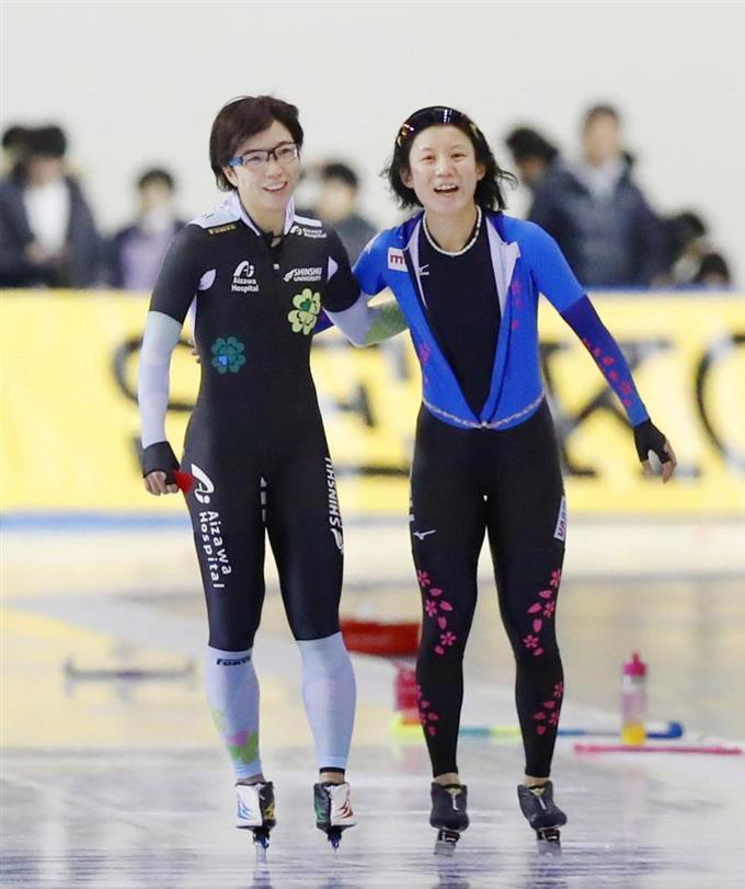 小平奈緒6度目V、高木美帆2位 スピードスケート全日本スプリント ...
